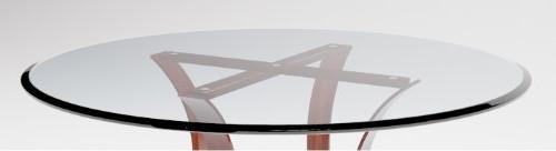 "24"" Table Top 1/4"" Tempered Edge Fab and Mirror"