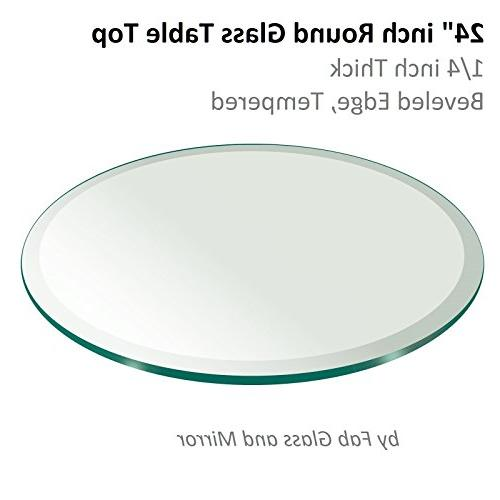 table round thick beveled edge