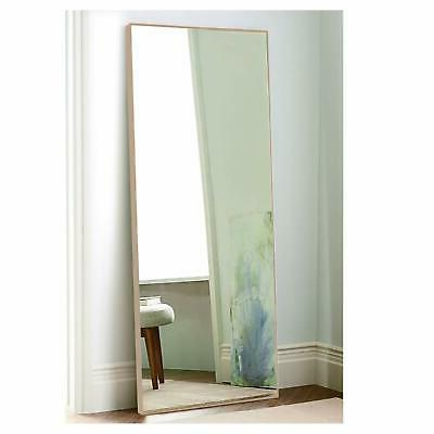 thin frame floor mirror 65 x22 maple