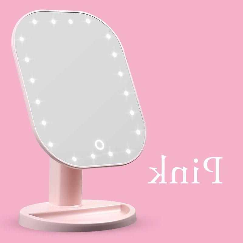 Touch LED Touch Screen Makeup Luxury LED 180 Degree Adjustable Table