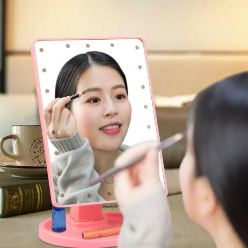 Touch Makeup Mirror Tabletop Cosmetic Vanity light up 22 LED