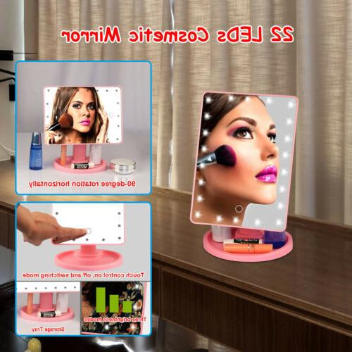 Touch Makeup Mirror Tabletop Cosmetic Vanity up LED