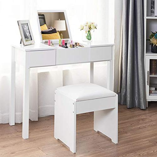 Giantex Bathroom Vanity Dressing Table