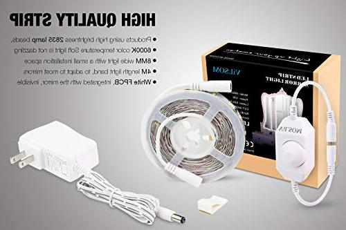 Led Vanity Mirror Kit,ViLSOM 240 Make-up Vanity Light for Vanity Set with Power Supply,Mirror Included.