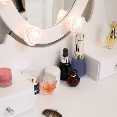 Vanity with Oval Mirror Makeup Table with 10 3 Drawers