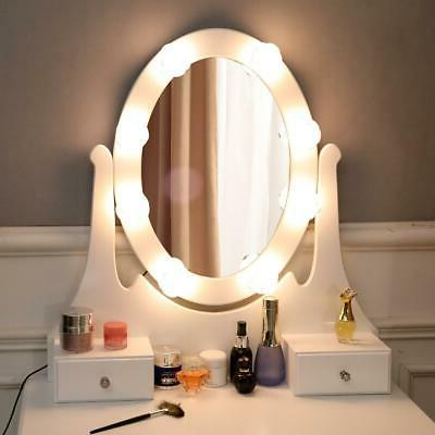 Vanity Oval Dressing Table with 10 3