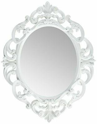 vWhite Oval Vintage Mirror x Inch from quality materials