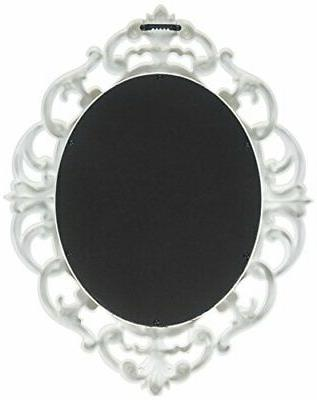 vWhite Oval Vintage Mirror Inch quality materials