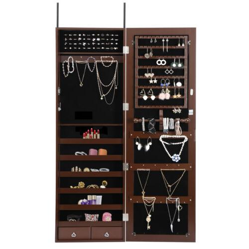 Wall Door Jewelry Cabinet Large Organizer with