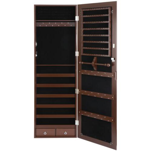 wall door mounted jewelry cabinet armoire large