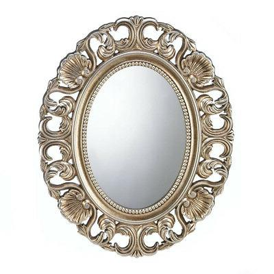 wall mirrors for girls gold framed round