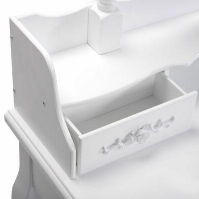 White Dressing Table Set Bathroom with Mirror