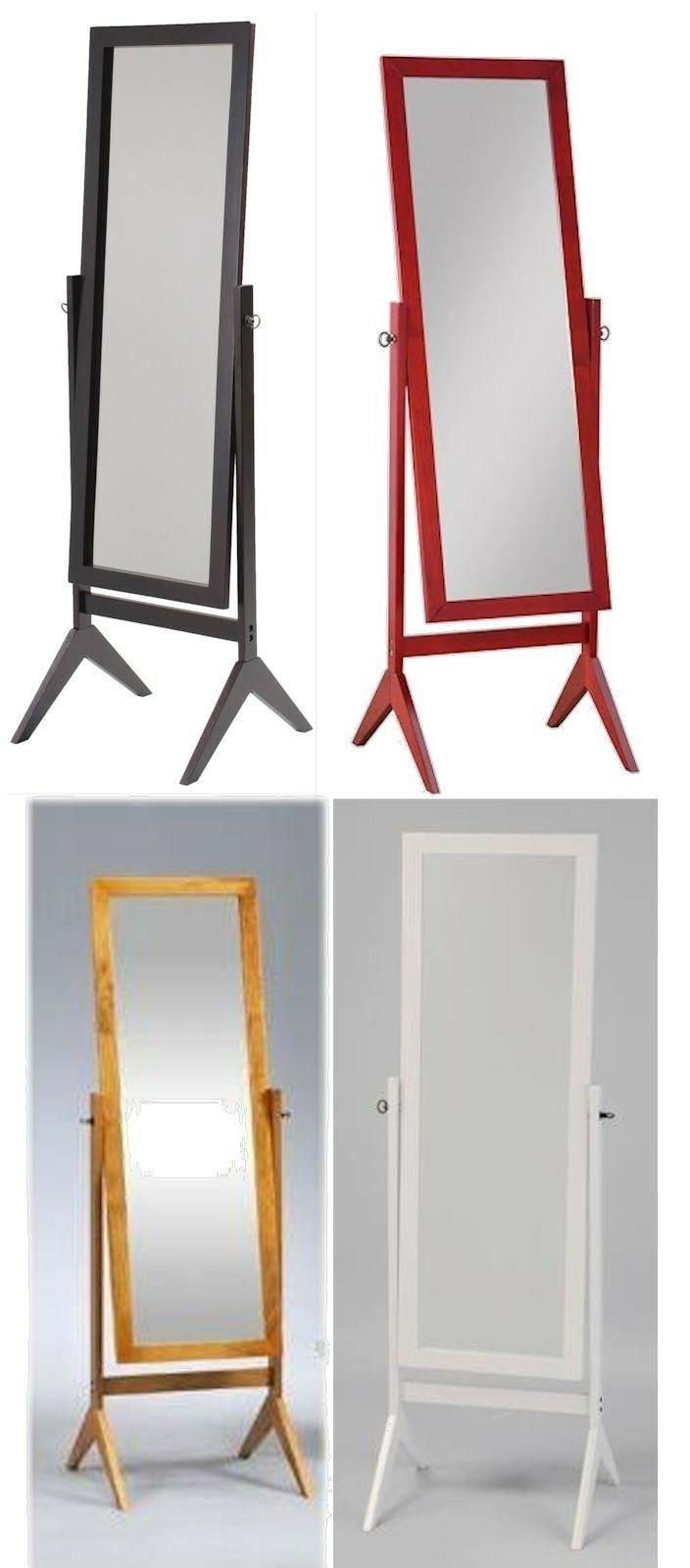 wood rectangular cheval floor mirror free standing