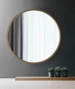 Large 31.5 inch Decorative Round Wall Mounted Mirror Gold Ir