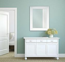 Large Bathroom Mirror For Wall Beveled Frame White Decor Mou