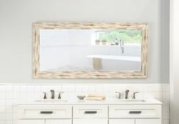 Distressed Full Length Mirror Large Floor Leaning Living Bed