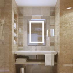 """Mirrors and More LED 24"""" x 36""""Wall Mirror Frameless w/ Illum"""