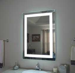 LED Bathroom Wall Mirror Illuminated Lighted Vanity Mirror w