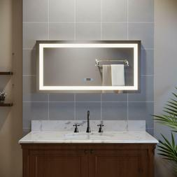 """SUNNY SHOWER  Bathroom LED Wall Makeup Mirrors 48""""with Illum"""