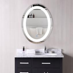 LED Bathroom Wall Mount Mirror Illuminated Lighted Vanity Mi