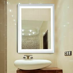 led illuminated backlit wall mount bathroom vanity