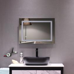LED Illuminated Bathroom Makeup Vanity Mirrors with Light Bu