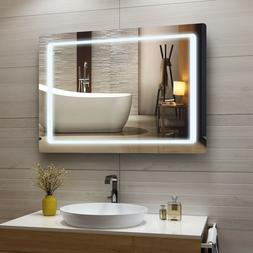 LED Lighted Bathroom Mirror Wall Mounted Mirror with Sensor
