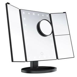 LED Lighted Makeup Mirrors 10X Magnification Cosmetic Vanity
