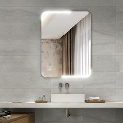 LED Wall-mounted Mirror Bathroom Makeup Illuminated Rounded