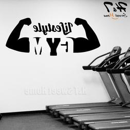 Lifestyle Gym Athletic Muscle Sport Vinyl Wall Sticker Decal