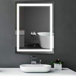 "HOMCOM 32"" LED Bathroom Makeup Vanity Mirrors with Light Bul"
