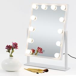 Lighted Cosmetic Vanity Mirror Hollywood Style Makeup w/Dimm