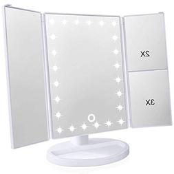 Lighted Makeup Mirror, Wondruz 24 Led Lights Vanity Mirror