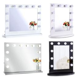 Chende Lighted Vanity Mirror Hollywood Makeup Mirror with Di