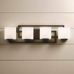 "Lighting on the Square Bronze 28 1/2"" Wide Bath Wall Light"