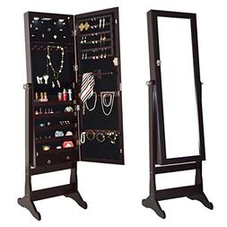 Giantex Jewelry Cabinet Armoire Lockable Organizer with Mirr
