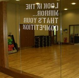 LOOK IN THE MIRROR Etch Effect Decal for Mirrors/Glass Home