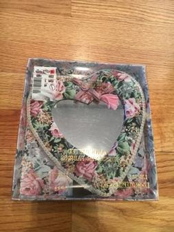 Loomco Products Victorian Lane Heart Fabric Heart Mirror, Ne