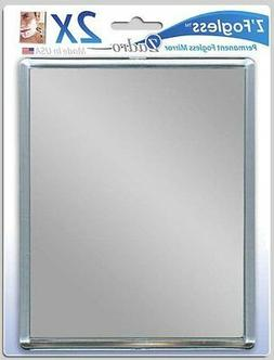 Zadro 2x Mag Z Fogless Shower Mirror with Suction Cup, 5.5 I