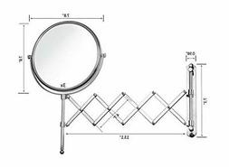 Makeup Bathroom Mirror Wall Mount Chrome Extension Arm 3X Ma