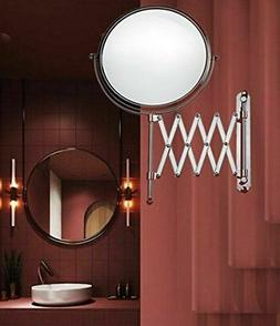 Makeup Mirror Wall Mount 2 Sided 3X Magnifying Extending Sha