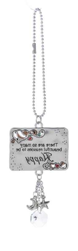 MANY BEAUTIFUL REASONS TO BE HAPPY Ganz Car Charm & Chain fo