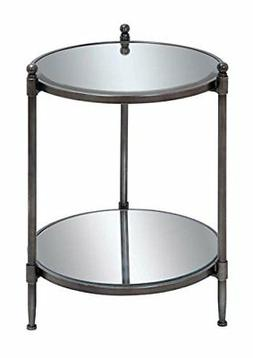 Metal Mirror Accent Table 24h, 18w