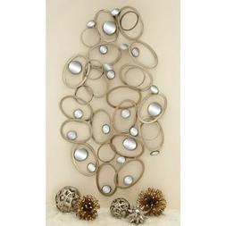 Deco 79 Metal Mirror Wall Decor, 60 by 33-Inch