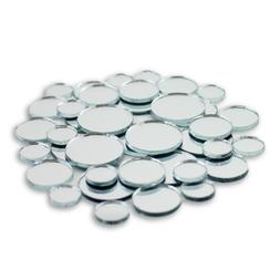 Small Mini Round Craft Mirrors Mosaic Tiles Assortment 1/2-