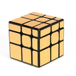 Twister.CK Mirror Cube 3x3 Mirror Cube Brain Teaser Brushed