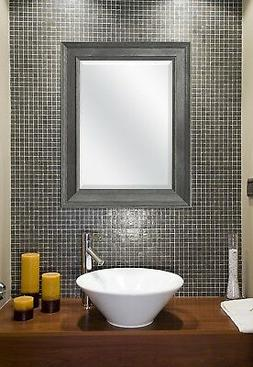 Mirror For Bathroom Modern Vanity Wall Mount Framed Beveled