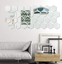 Mirror Wall Sticker Home Living Bedroom Fashion Removable 32