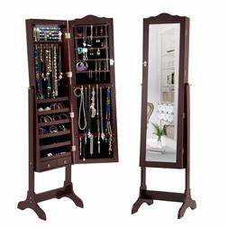Giantex Mirrored Jewelry Cabinet <font><b>Armoire</b></font>