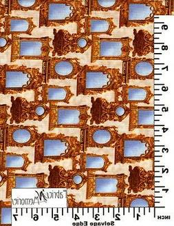 Mirrors Fabric F806 Marcus Bros BY THE HALF YARD